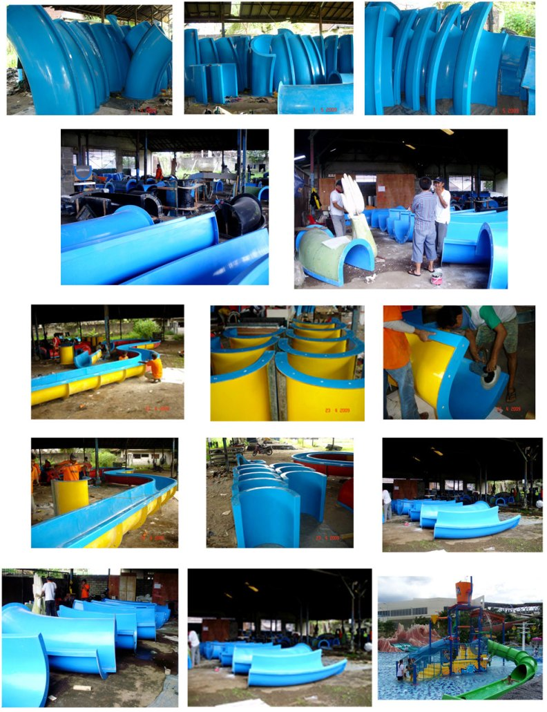 Fabrikasi Water Slide-queen-star-waterpark-siak-riau-8