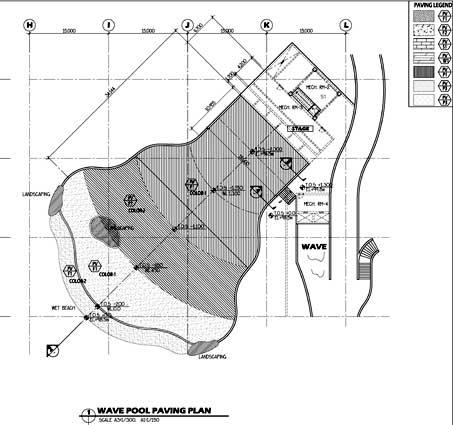 konsep desain snow bay tmii waterpark wave pool snow bay